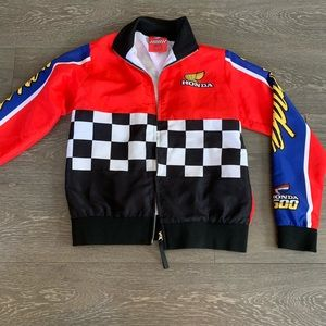 NWOT HONDA CHECKERED TRACK JACKET